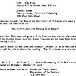 Announcements, 1978-10-19. ...