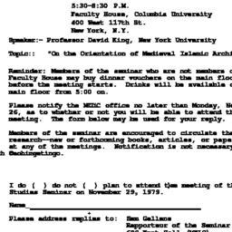 Announcements, 1979-11-29. ...