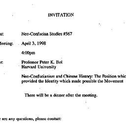 Announcements, 1998-04-03. ...