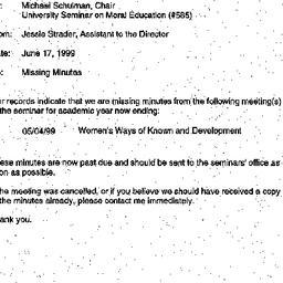 Announcements, 1999-06-17. ...
