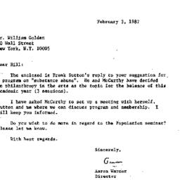 Correspondence, 1987-02-03....