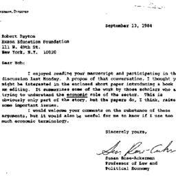 Correspondence, 1984-09-13....
