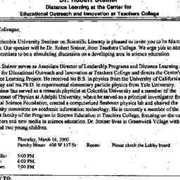 Announcements, 2000-03-16. ...