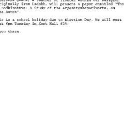 Announcements, 2000-11-03. ...