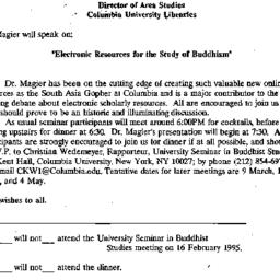 Announcements, 1994-02-09. ...