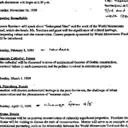 Handouts, 1998-11-16. Histo...