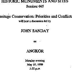 Announcements, 1999-05-10. ...