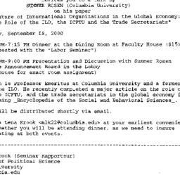 Announcements, 2000-09-06. ...