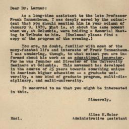 Correspondence, 1970-01-16....