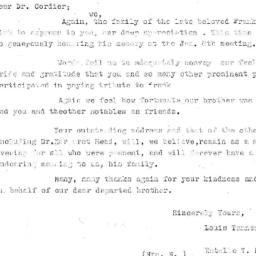 Correspondence, 1970-01-18....