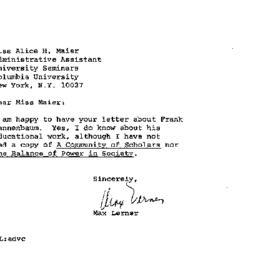 Correspondence, 1970-01-21....