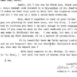 Correspondence, 1970-05-04....