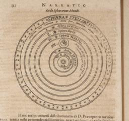 Page 112, illustration entitled, 'Narratio, Ordo Sphaerarum Mundi'