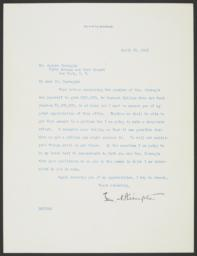 Typed letter signed to Andrew Carnegie requesting a grant for Barnard College