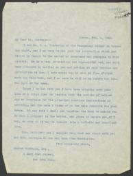 Typed letter, signed, to Andrew Carnegie