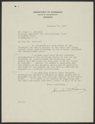 Typed letter signed to James T. Shotwell regarding one of the books in Economic and Social History of the World War series