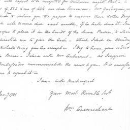 Document, 1781 January 3