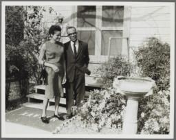 Barbara and Ulysses Kay in Yard