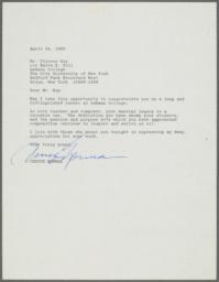 Letter of congratulations from Jessye Norman to Ulysses Kay on his retirement