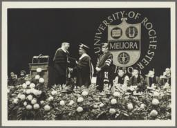 Ulysses Kay receiving award from the University of Rochester