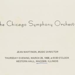 Chicago Symphony Orchestra ...