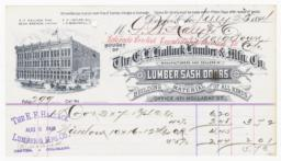 E. H. Hallack Lumber & Mfg. Co.. Bill - Recto