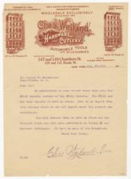 Chas. Weiland. Letter - Recto