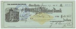 Citizen's National Bank. Check - Recto