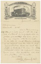 Whitney, Raymond & Co.. Letter - Recto