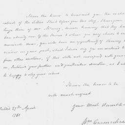 Document, 1780 April 27