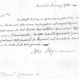 Document, 1781 January 8