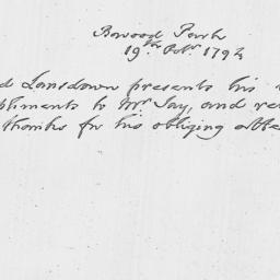 Document, 1794 October 19