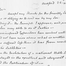 Document, 1816 May 22