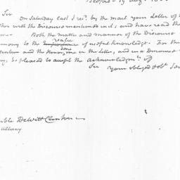 Document, 1823 August 19