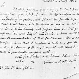 Document, 1803 January 11