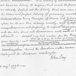 Document, 1798 August 16