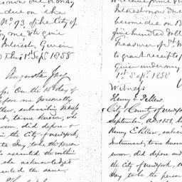 Document, 1858 September 01