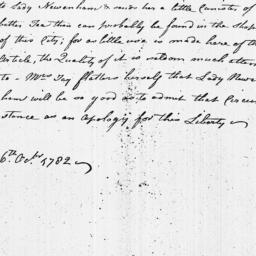 Document, 1782 October 16