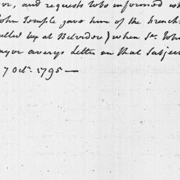 Document, 1795 October 07