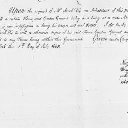 Document, 1665 July 05
