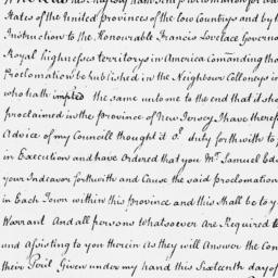 Document, 1672 July 16