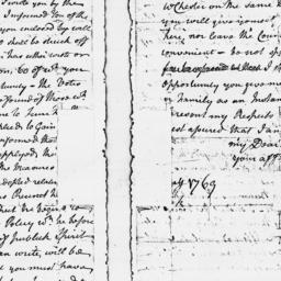 Document, 1769 January n.d.