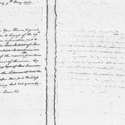 Document, 1777 May 09