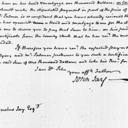 Document, 1818 March 31