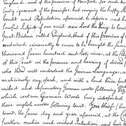 Document, 1770 January 07