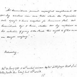 Document, 1781 January 31