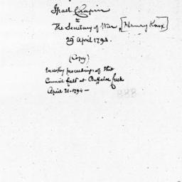 Document, 1794 April 29