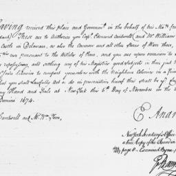 Document, 1674 November 06