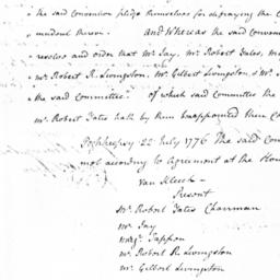 Document, 1776 July 22