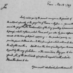 Document, 1789 November 18